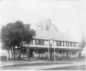 A tavern at 59 Tolland Green that burned down in 1896